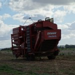 Potato harvester(?) in Normandy