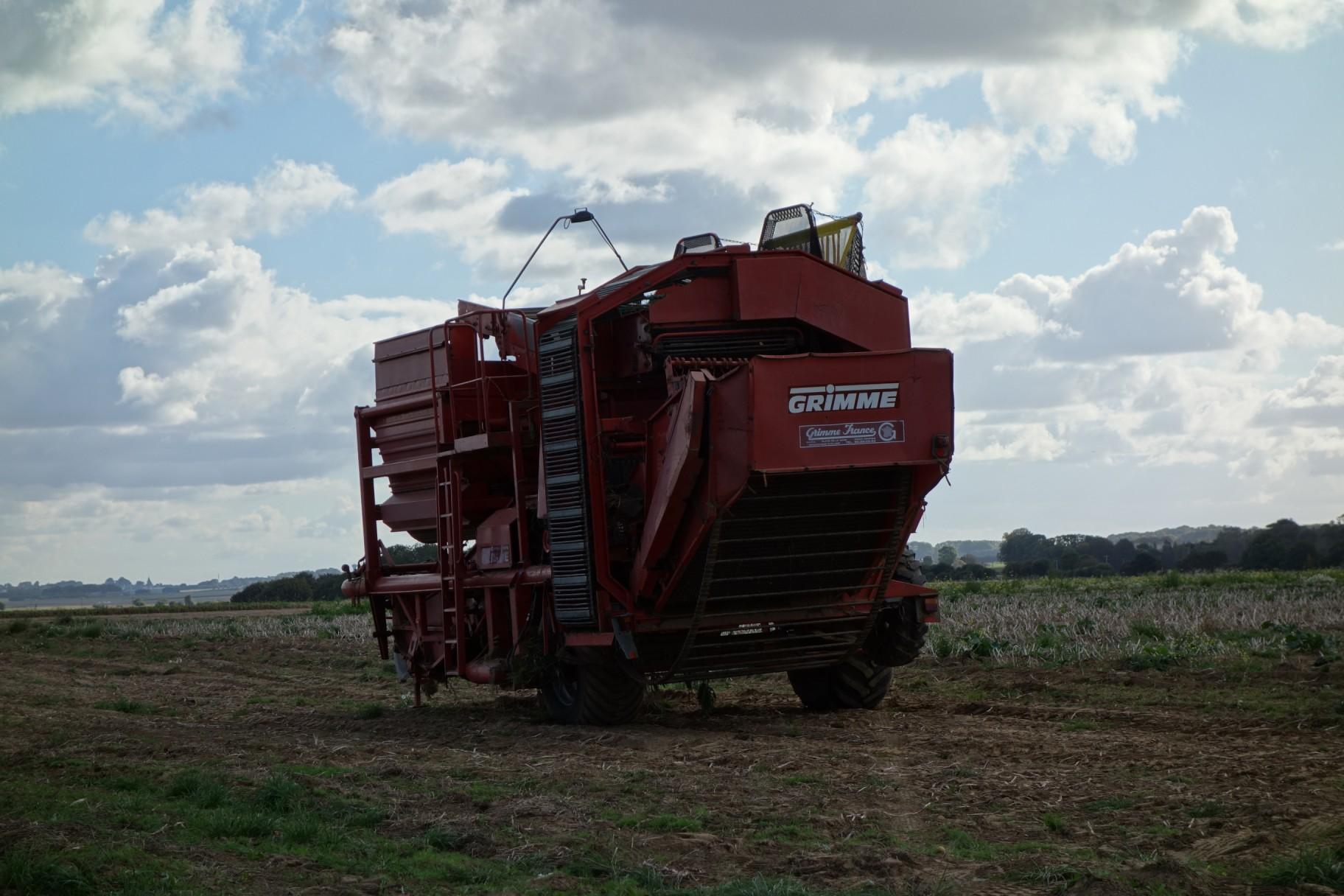 Potato harvester(?) in Normandy