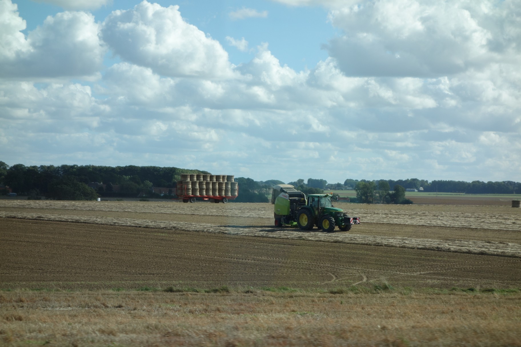 Straw baling in Normandy